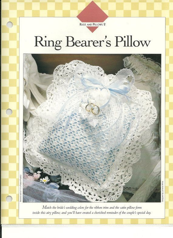 crochet wedding ring bearer pillows Ring Bearers Pillow Crochet