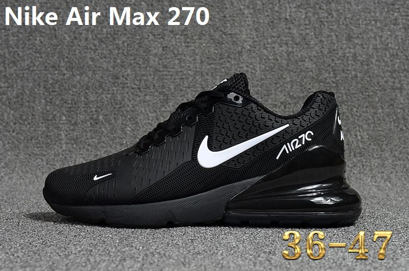 best service 6405b 6d727 2018 Popular Nike Air Max 270 KPU Casual Running Shoes Sneakers 2018 Black  White