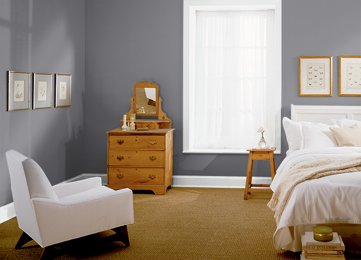Behr charcoal plum for the home pinterest behr wall for Behr paint ideas for bedroom
