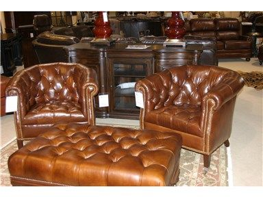 Shop For Goods Furniture Outlet   Charlotte Leather Tufted Tub Chair By  Henredon Furniture, IL8836