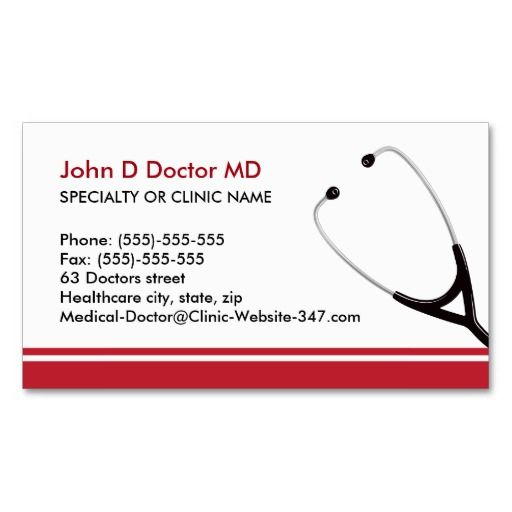 Medical Doctor Or Healthcare Business Cards  Cardiologist Business