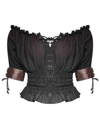 948c018916c834 PUNK RAVE EMMALINE TOP - BLACK Steampunk Costume, Gothic Steampunk, Steampunk  Fashion, Black