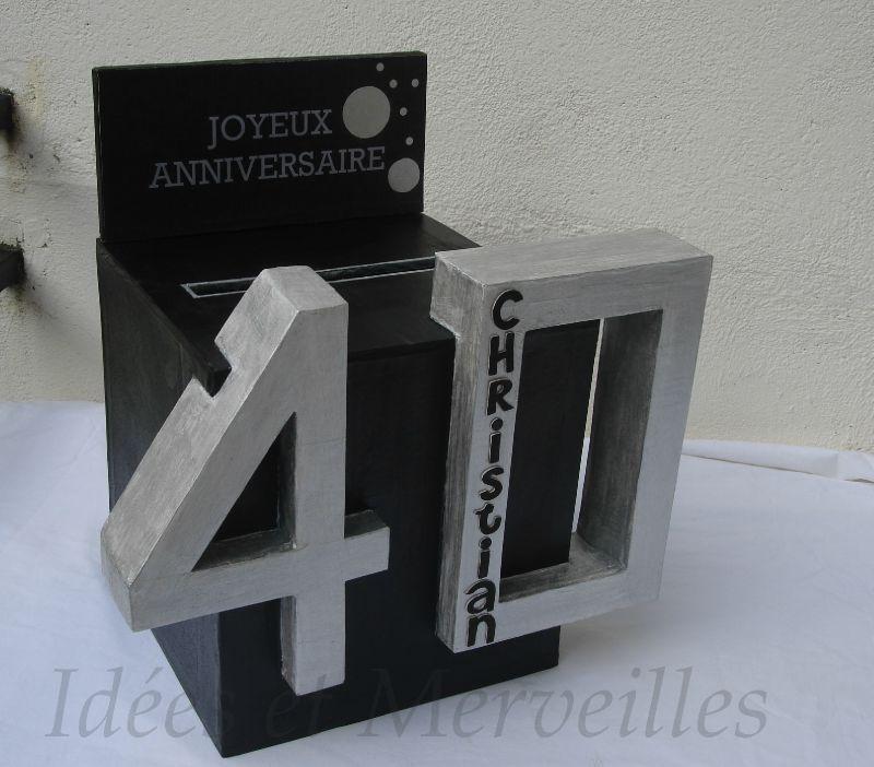 urne anniversaire 40 ans