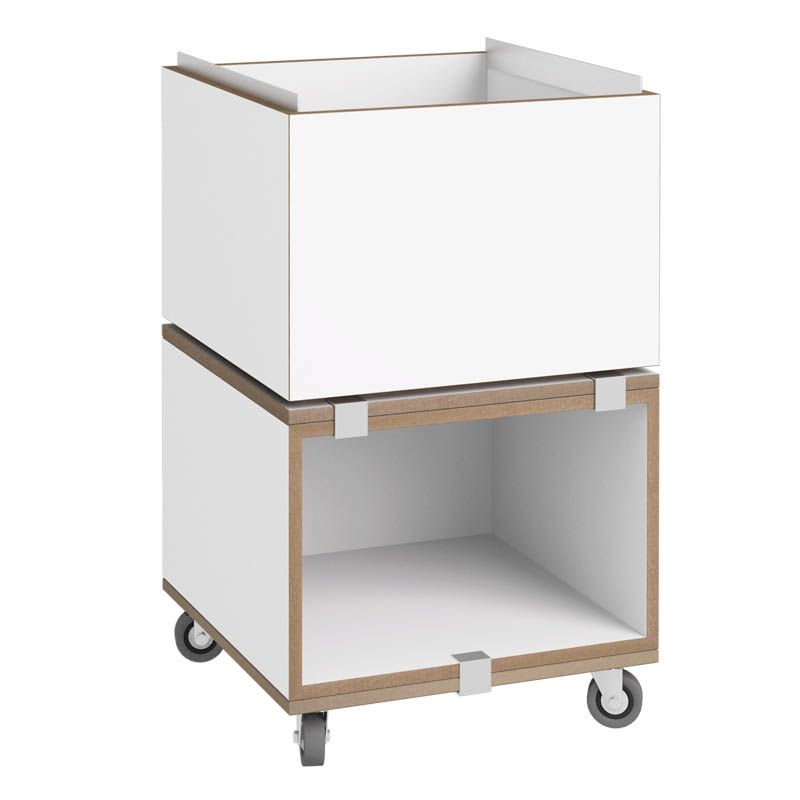 Rollcontainer Weiß   Stocubo Regalsystem, Würfelsystem, Würfel,  Würfelregal, Regal, Schrank,