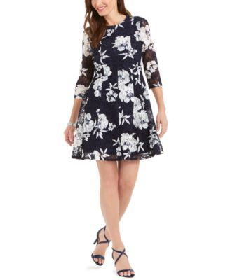 Jessica Howard Petite Floral Lace Fit & Flare Dress & Reviews - Dresses - Petites - Macy's