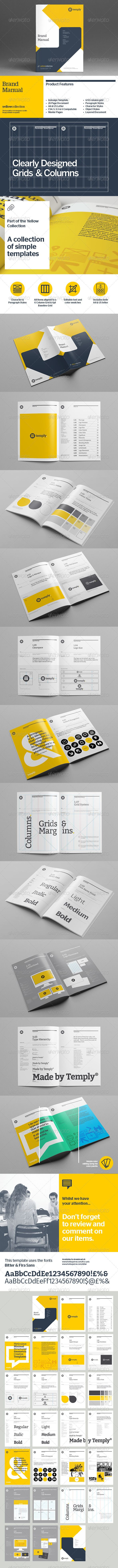 Brand Book Design Template Design Brochure Download Http