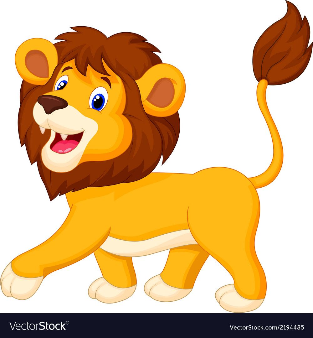 Vector Illustration Of Lion Cartoon Walking Download A Free Preview Or High Quality Adobe Illustrator Ai Eps Lion Cartoon Drawing Lion Images Zebra Cartoon