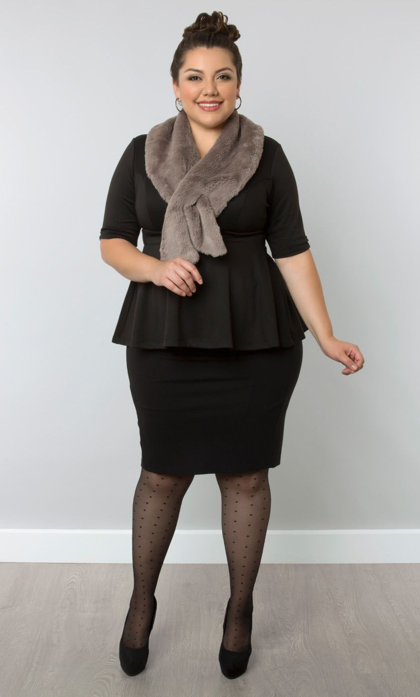 Add A Little Sophisticated Warmth To Your Office Attire With Our Faux Fur Vermont Scarf