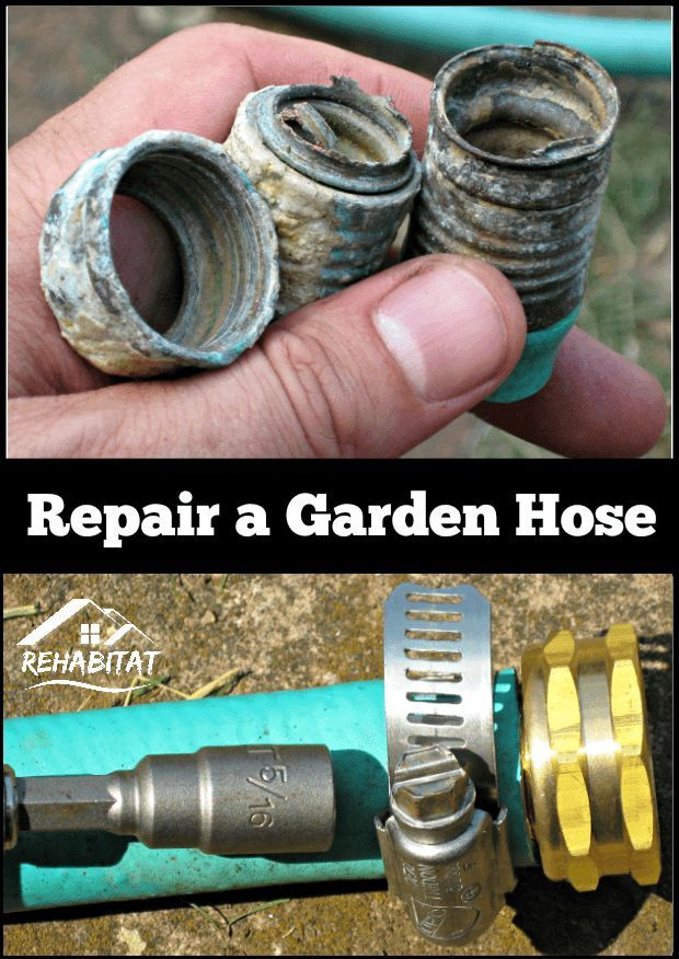 Rusted garden hose? No problem! Here's how to fix it