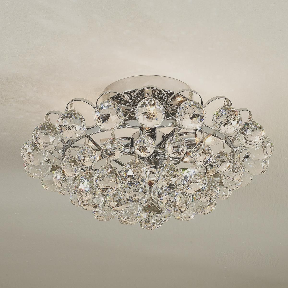 Glamorous Crystal Ceiling Light Glamour A Brilliant Arrangement Of Faceted Crystals Hanging