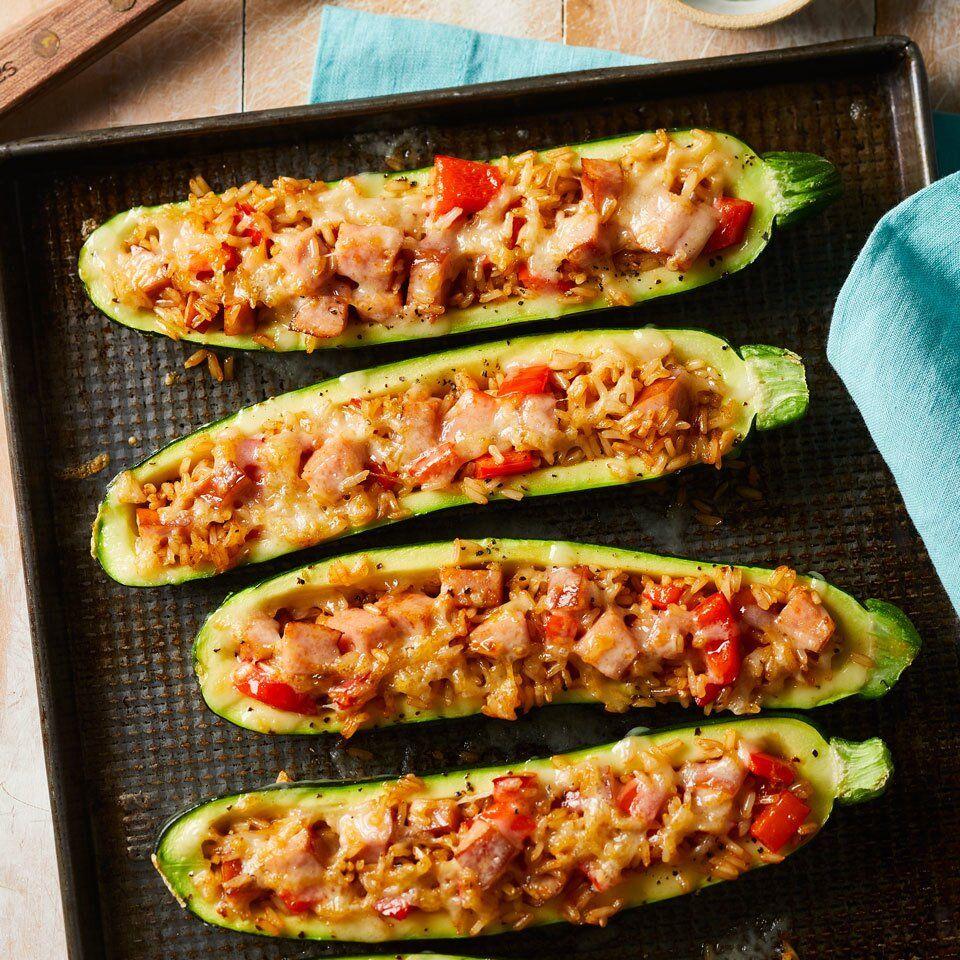 7 Day Meal Plan Fast Cheap Winter Dinners Sausage Stuffed Zucchini Stuffed Peppers Zucchini