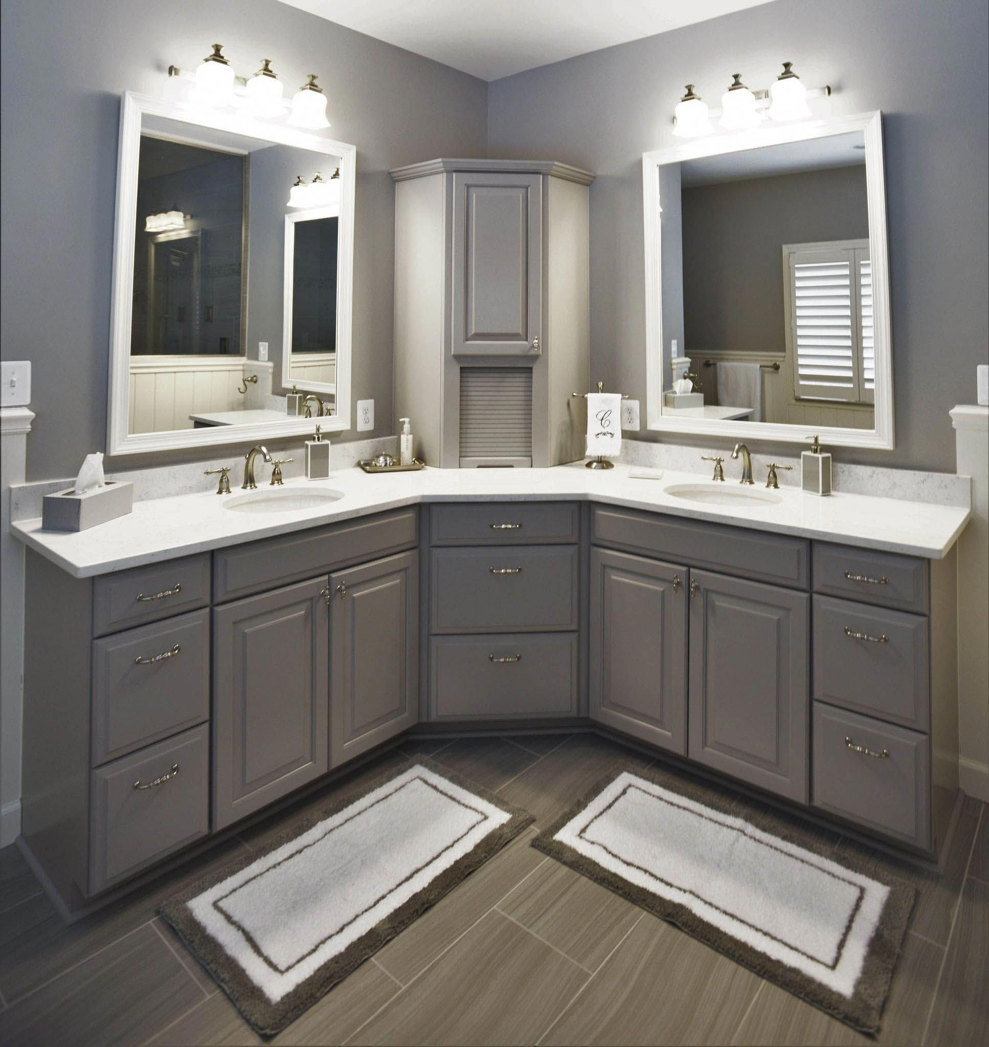 Good Corner Bathroom Vanity Menards To Refresh Your Home Bathroomvanity Corner Bathroom Vanity Bathroom Countertops Bathroom Remodel Master