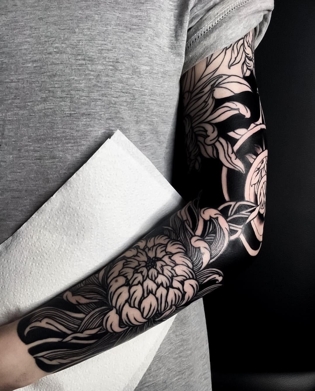 Japanese Ink On Instagram Japanese Inspired Blackwork Tattoo Sleeve By Caljenx Japaneseink Japanesetattoo Irezum Blackwork Tattoo Sleeve Tattoos Tattoos