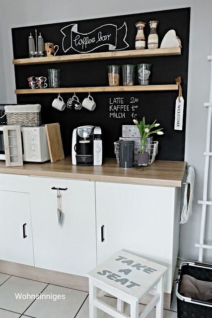 wohnsinniges coffee bar sch nes f r zuhause pinterest. Black Bedroom Furniture Sets. Home Design Ideas