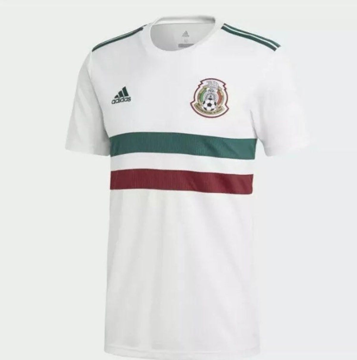 Adidas Mexico Soccer White Jersey Drifit In 2020 Mexico Away Jersey Mexico Soccer Jersey Soccer Jersey