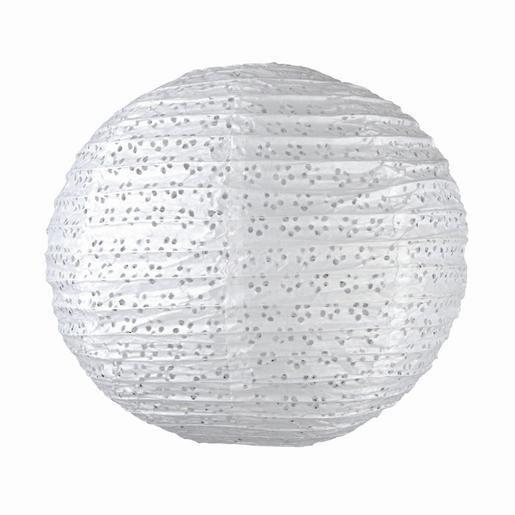 Suspension boule japonaise ajourée Papier et acier ˜ 40 cm