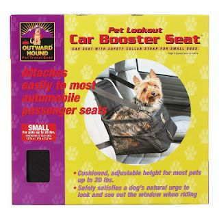 Car booster seats - love love love. Animal safety is a plus - http://cotondetulearchatter.blogspot.com/2010/07/car-seat-for-doggies.html