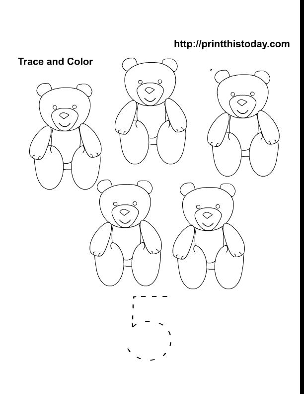 Number 5 Worksheets For Preschool Number 5 Preschool Worksheet