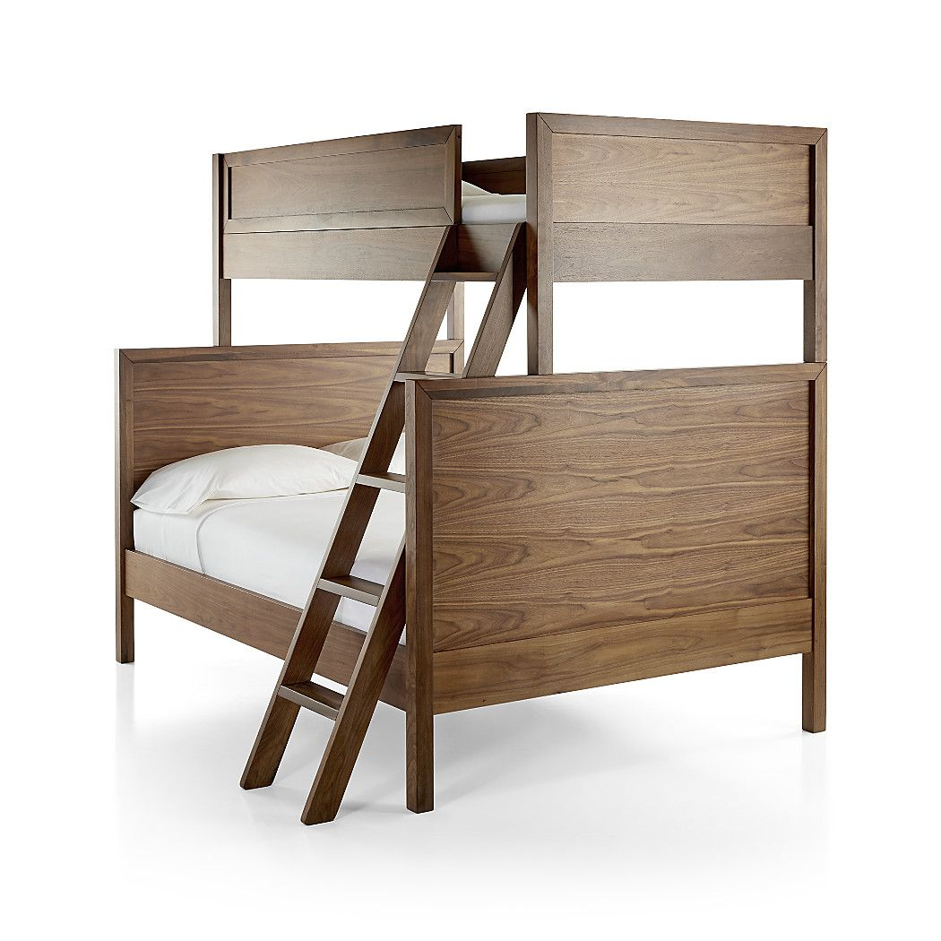 Taylor Twin Over Full Walnut Bunk Bed Crate and Barrel