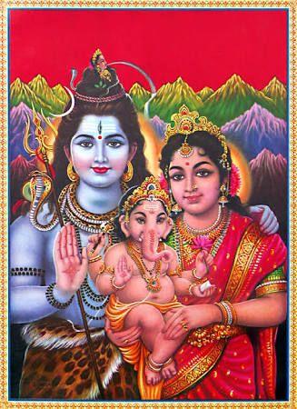 Image Result For Shiva Parvati Ganesh God Shiva Lord Shiva Ganesha