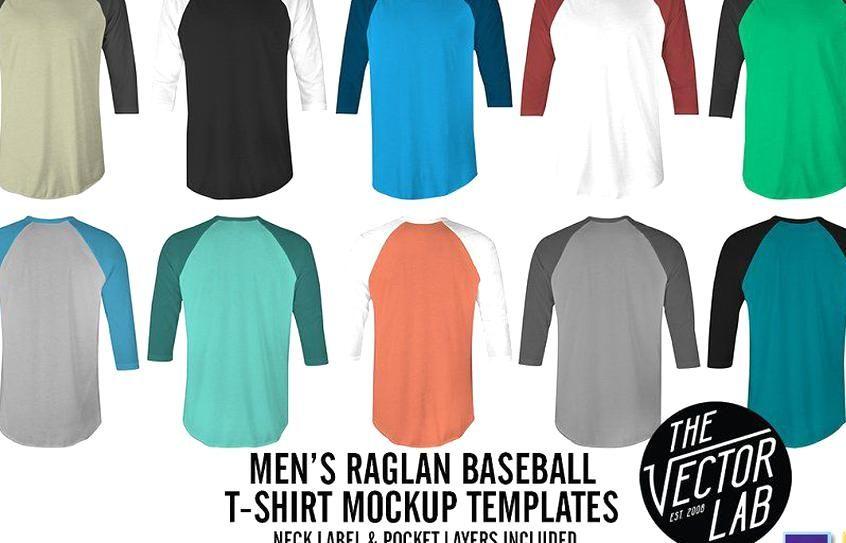 Download Ad Mens Raglan Mockup Templates Psdai By Thevectorlab On Creativemarket Make Your Mens Raglan Baseball T Shir Baseball T Shirt Designs Shirt Mockup Mens Raglan
