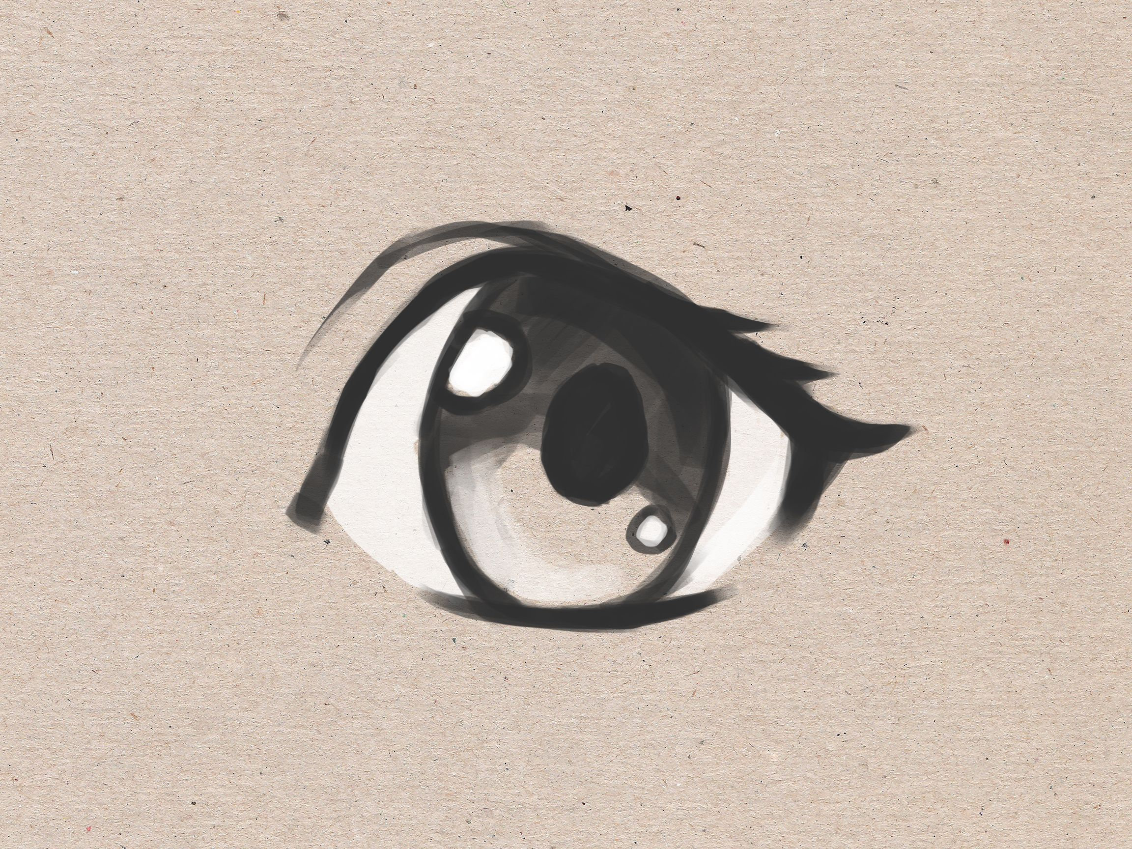 How To Draw Simple Anime Eyes Via Wikihow Com Easy Anime Eyes Eye Drawing Simple Simple Anime