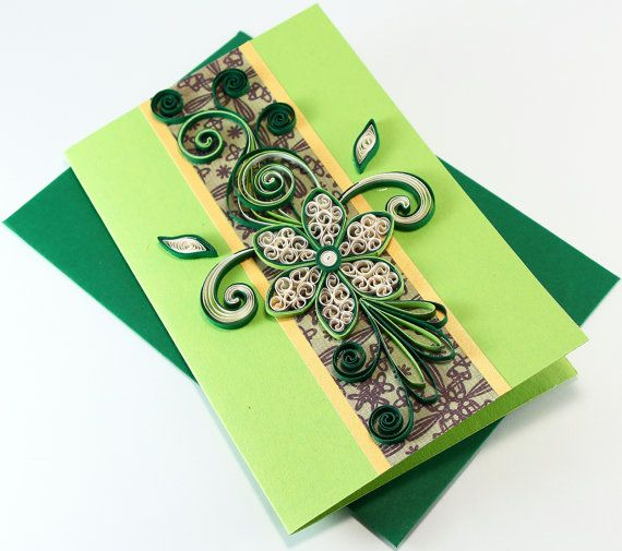 Paper Quilling Birthday Card Handmade Greeting Card For Husband