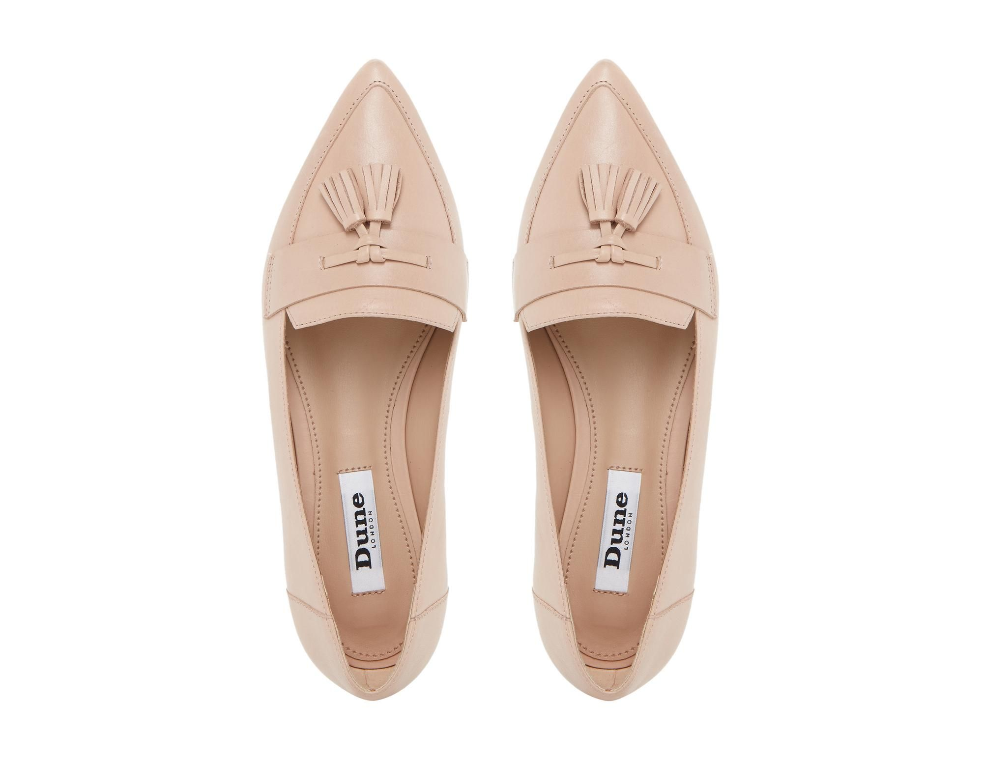 081fa243e83 DUNE LADIES GLINT - Pointed Toe Tassel Loafer - nude