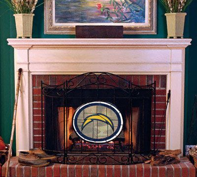 San Diego Chargers Fireplace Screen Fireplace Screens Victorian