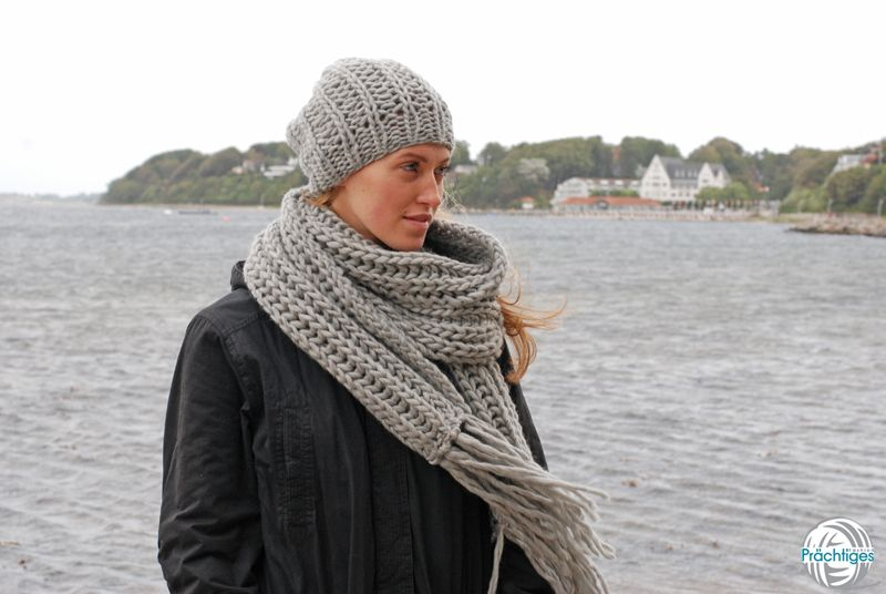 Noelle - Langschal hellgrau von Prächtiges auf DaWanda.com