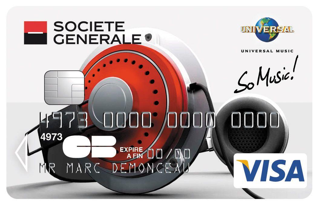 Célèbre Carte Visa So Music Société Générale. #Casque | Cartes Collection  TI26