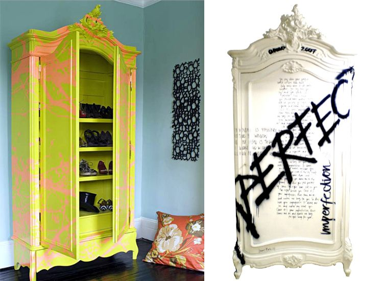 Diy Graffiti Wardrobe Dressers Diy Crafts Creations Pinterest