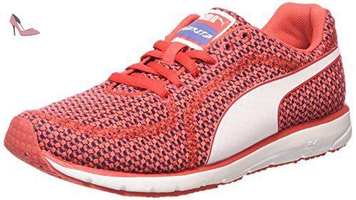 Puma  Narita v3 Knit Wn's, Chaussures de course femmes - Rouge - Rot (cayenne-bleached denim-white 02), 37.5 EU - Chaussures puma (*Partner-Link)