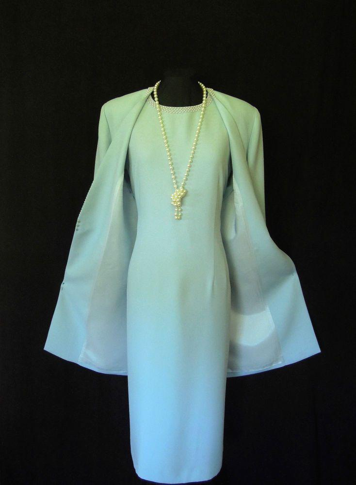 4c414a2ecd40c CONDICI Wedding Outfit Size 20 Blue Dress and Jacket Suit Ladies ...