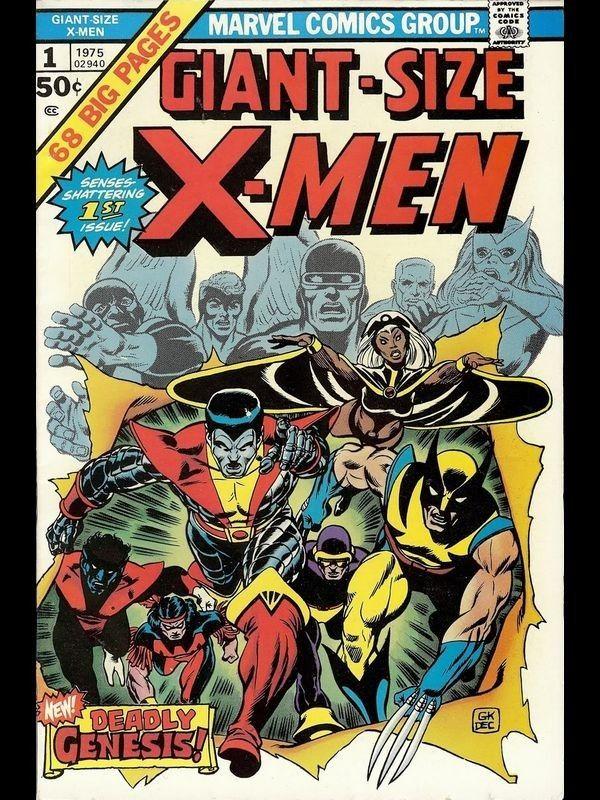 Marvel Steel Cover Giant Size X Men 1 Semic Distribution Couvertures Comic Marvel Comics Bandes Dessinees Marvel