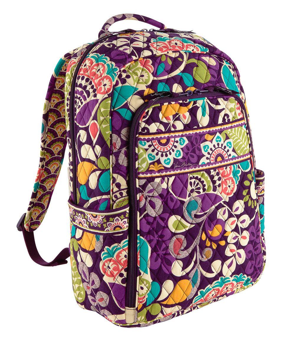 c16d8bfd292c Look at this  zulilyfind! Plum Crazy Laptop Backpack by Vera Bradley   zulilyfinds