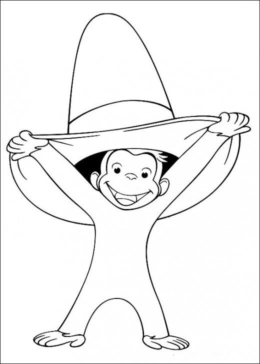 M Is For Monkey Coloring Page Curious George Coloring Pages
