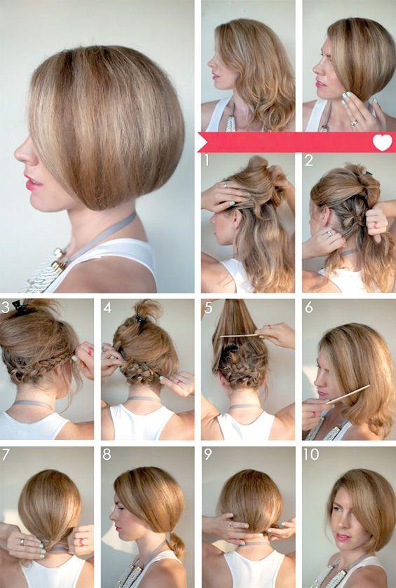 Fake Bob Short Hair Tutorial Hair Romance Hair Styles