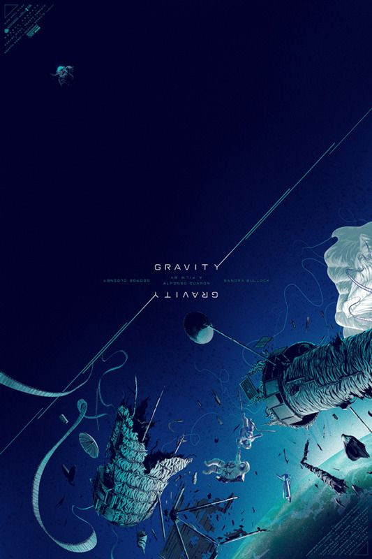 Gravity - movie poster - Kevin Tong