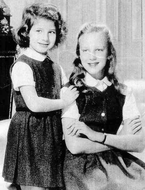 TRH Princesses Marie Esmeralda and Marie Christine of Belgium, the two daughters of King Leopold III of Belgium and his second wife Lilian Princess of Rethy.   The girls have an older brother named Alexander and two stepbrothers (King Albert II and King Baudouin) and a stephsister (Josèphine-Charlotte Grand Duchess of Luxembourg)