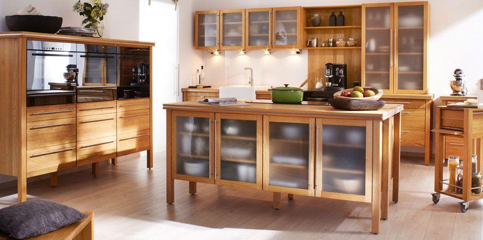 freistehende massivholz modulküchen von annex | küche - kitchen ... - Küchenmöbel Aus Holz