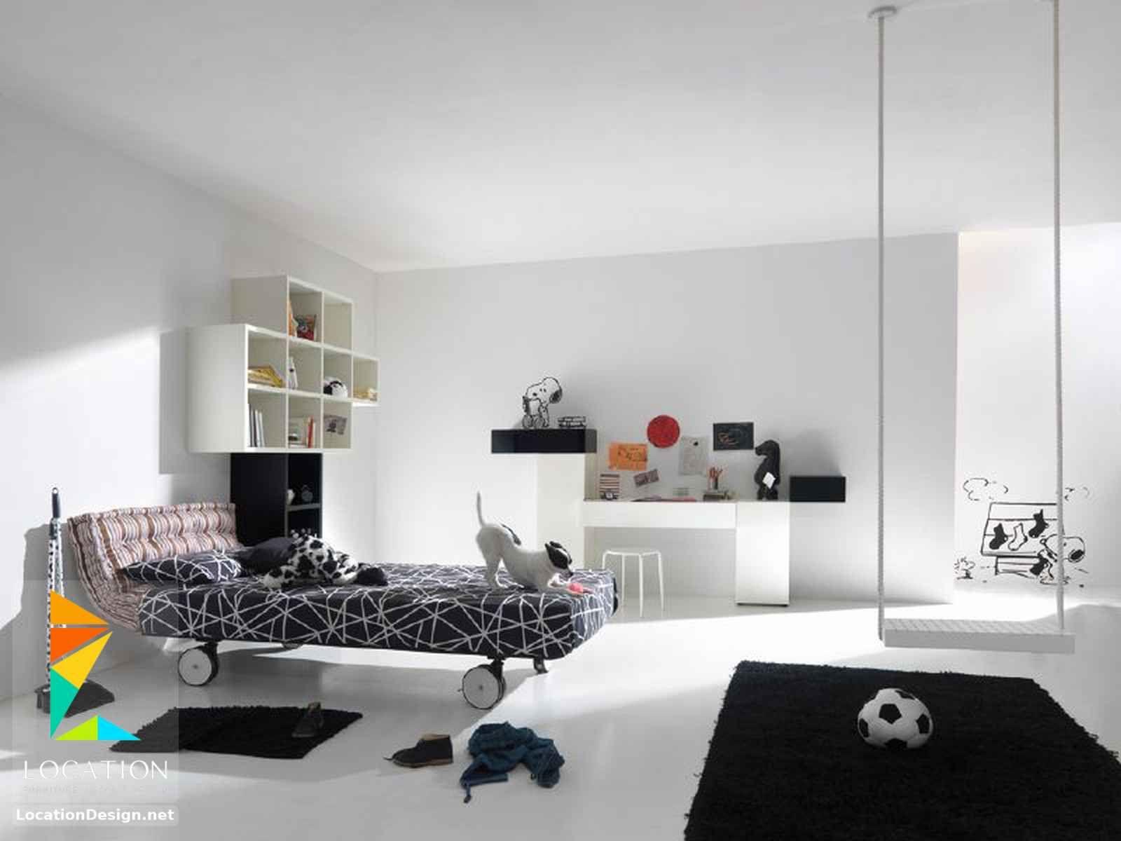 غرف نوم اولاد شباب أحدث موديلات غرف شبابي مودرن لوكشين ديزين نت Modern Kids Room Modern Kids Bedroom White Kids Room
