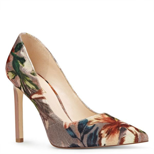 947725ad2 Nine West Tatiana Pointy Toe Pumps ($79) ❤ liked on Polyvore featuring  shoes, pumps, floral velvet, nine west pumps, leopard pumps, pointed toe  shoes, ...