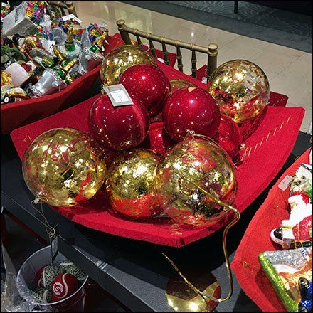 neiman marcus table top buffet of ornaments