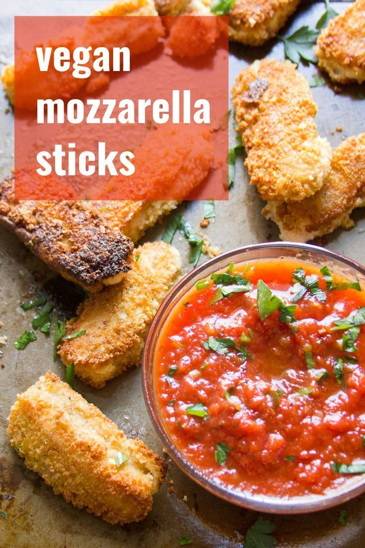 Creamy cashew cheese is breaded, pan-fried to golden, crispy deliciousness, and served with zesty marinara sauce to make these mouth-watering vegan mozzarella sticks. This delicious dairy-free appetizer is perfect for gatherings or everyday snacking!