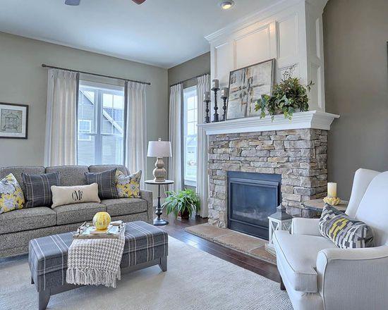 Craftsman Living Design Ideas Remodels Photos Houzz Family Room Design Family Room Family Living Rooms