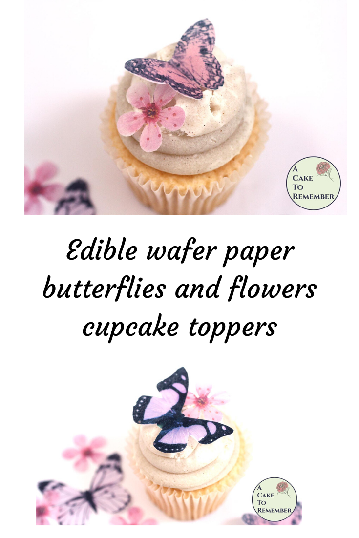 12 PRECUT Pastel Roses Edible wafer//rice paper cupcake toppers