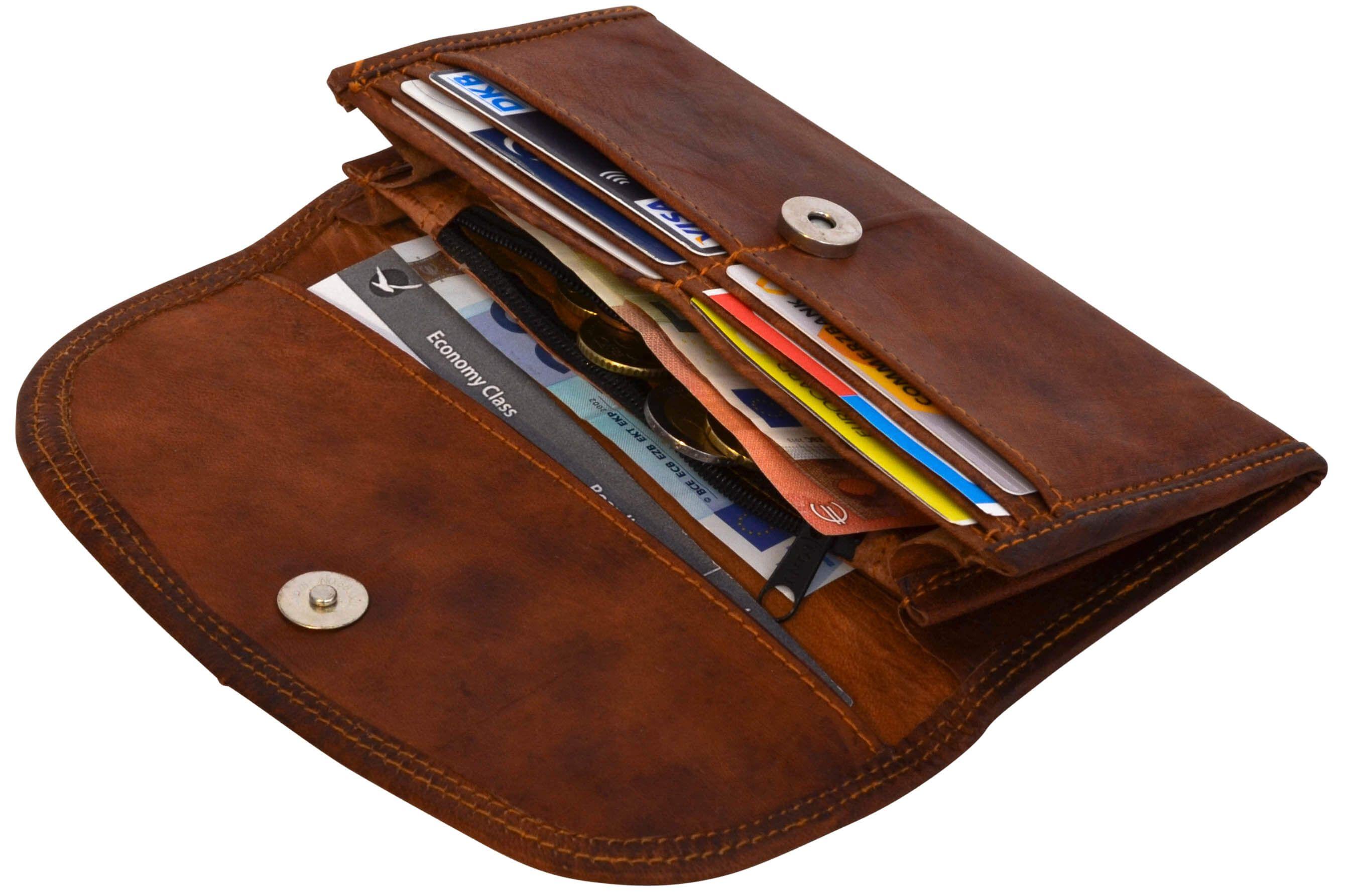 """Endlich ein Portemonnaie, in das alles hinein passt! """"Emma"""" bietet für Klein- und Großgeld, für Treue- und Keditkarten und für den Ausweis Platz genug an, um alles sicher unterzubringen - Lederportemonnaie - Leder Geldbörse - Gusti Leder - A12"""
