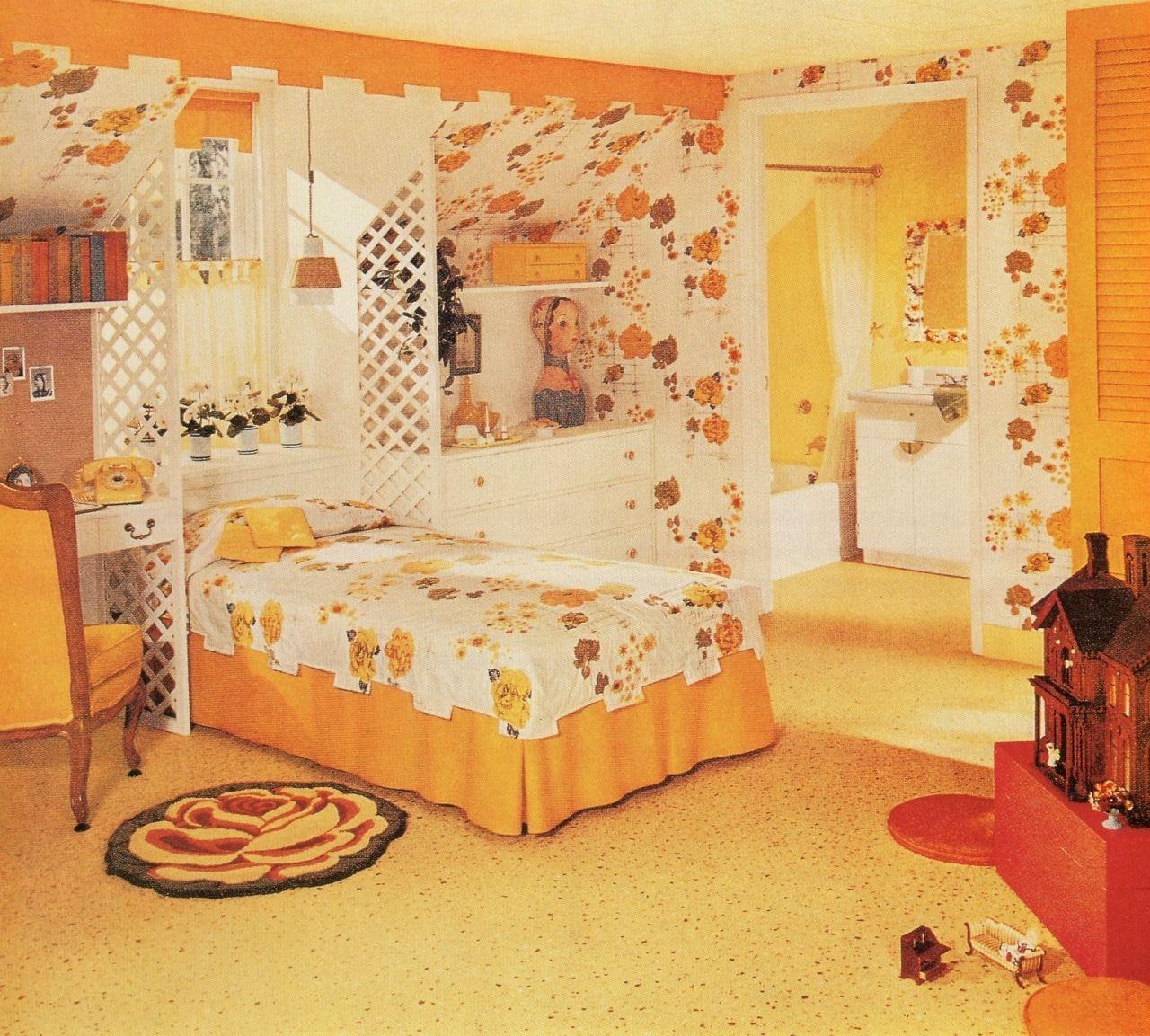 A teen girl's dream bedroom in the 1950s!   Retro bedrooms ...