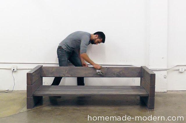 Ep70 outdoor sofa homemade sofa sof al for Jardin al aire libre de madera deco